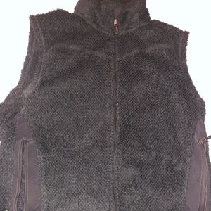Patagonia vest fleece black full zip women medium